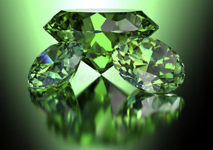 ¿Alguna vez has visto un diamante verde?