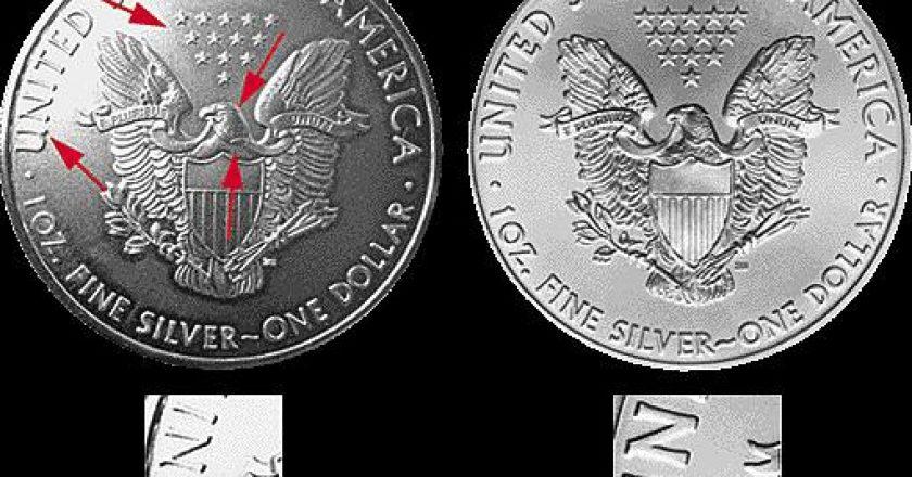 Monedas de latón recubiertas de plata