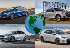 Los vehículos más vendidos del mundo, país por país